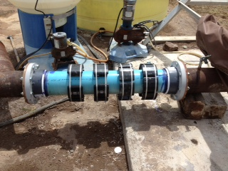 GMX Model 8000s on irrigation pipe