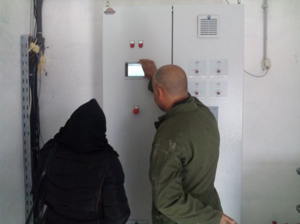GMX units installed on water lines at a poultry farm in Tunisia