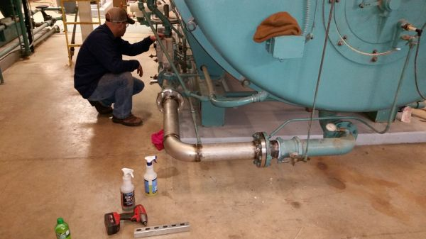 """GMX Model 8000s on a 4"""" natural gas line to boiler"""