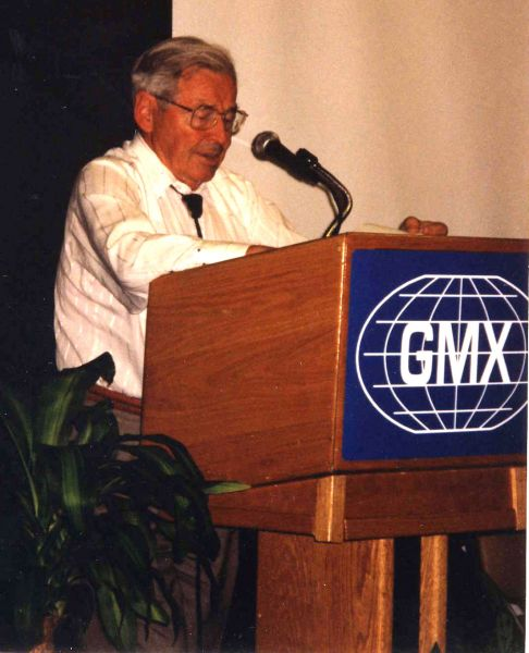 The late, world reknown physicist, Dr. Klaus Kronenberg, speaking about GMX Products at two conferences.  He helped design our units 21 years ago and we were so blessed to have his expertise in the science of magnetohydrodynamics, of which he devoted most of his life teaching.  We thought you might enjoy these photos.