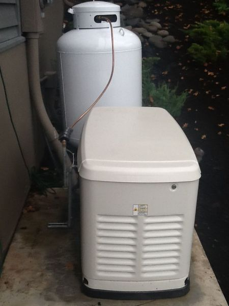 GMX Model 400s On Propane Generator