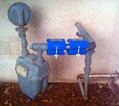 Natural Gas Installation on Home